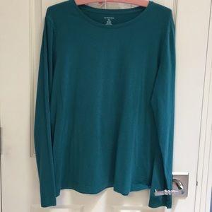 EUC Cotton/Rayon blend Lands' End XL long sleeve T